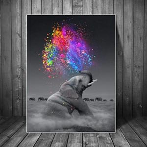 Fantasy Elephant Wall Art Poster Animal stampa su tela parete Pop Art Immagini decorativo per Living Room Decor No Frame