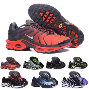 Discount Hight Quality Sports Casual Shoes New TN Men Black White Red Mens Breathable Runner Sneakers Man Trainers Tennis Shoes G8C1P