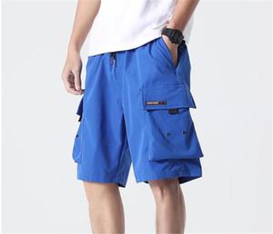 Übergroße lose beiläufige Hip Hop Teenager Herren Designer Shorts Knielänge mit Taschen 7XL Sommermens Cargo-Shorts Solid Color