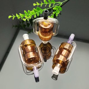 new Europe and Americaglass pipe bubbler smoking pipe water Glass bong New color double filter cigarette accessories