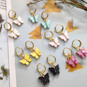 2020 New Women's Earrings Fashion Color Acrylic Butterfly Stud Earrings Animal Sweet Colorful Stud Earrings Girls Jewelry Accessories