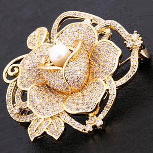 Forma de diamante broche para a roupa Rhinestone Flower Buckle traje Homens Para