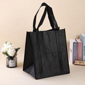 tinta unita stampa li pellicola rivestita ti sacchetto non tessuto Shopping Bag Dai negozi portatile non tessuto