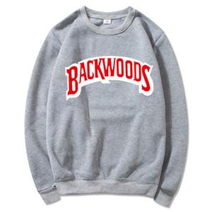 Backwoods Дизайнер толстовку Индивидуальные Rock Мужские футболки свитера Письмо печати вскользь пуловер Толстовка с длинным рукавом S-3XL