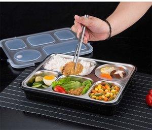 304 Paslanmaz Çelik Lunch Box ile Bölmeler Mikrodalga Bento Box İçin Çocuklar Okulu Piknik Gıda Konteyner k882