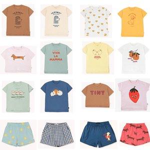EnkeliBB 2020 New Toddler Boy Girl Fashion Brand T Shirts Baby Cotton O Neck Tops For Summer Strawberry Orange Print Child Tees CX200714