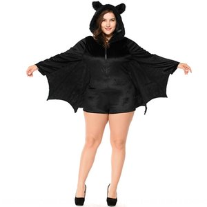 Qrjrl Adult Halloween cosplay female black bat vampire women's game uniform temptation Adult Halloween cosplay clothing female black bat vam