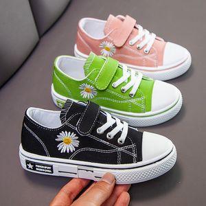 2020 Çocuk Moda Sneakers Çocuklar Çiçekler Casual Canvans Ayakkabı Erkekler Kızlar Rahat Spor Ayakkabı T200709