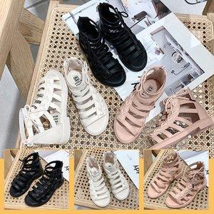 2020 sandals girls comfortable fashion woven princess new student Rome Sandals children's children's shoes shoes