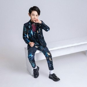 YuanLu 2020 Kids Suit For Boy British Style Velvet Blazer Jacket Silm Fit For Wedding Party Christmas Toddler Flower Clothes LhQk#