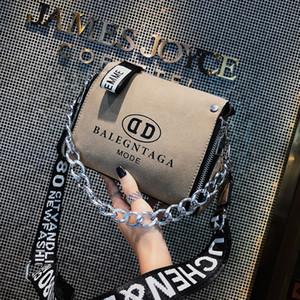 Scrub Messenger Bag en cuir Mode 2020 nouvelle mode des femmes sacs à main Lettre large bracelet design Bucket Sac à bandoulière Bolsa Feminina