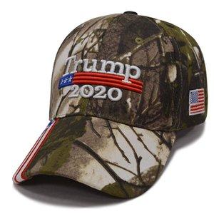 Hot 4 Styles Donald Trump Baseball Hat Star Usa Flag Camouflage Cap Keep America Great Hats 3D Embroidery Letter Adjustable Snapback LJJA430