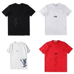 Unisex T Shirts Hip Hop Tee nuevo alto desistir Paisley Bandana letra de la impresión gráfica de la cremallera lateral extendido camiseta # QA414