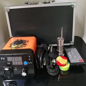 Temperature Controller Heater Coil 110V 220V Voltage With Remote Control Enail Wax Vaporizer Mini Titanium Nail Wax Box E Nail Kit BOX01