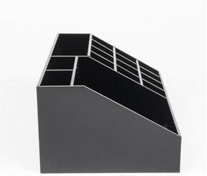 Brand Lipstick storage box Luxury High level acrylic makeup box Cosmetic classification grid Lady Fashion Dresser storage bag Dressing case