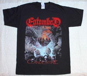 Entombed Clandestine'91 Death Болт Метатель развязали Nihilist Черная футболка Мужская футболка Фитнес Подарок Плюс Размер S-5xl Печатный