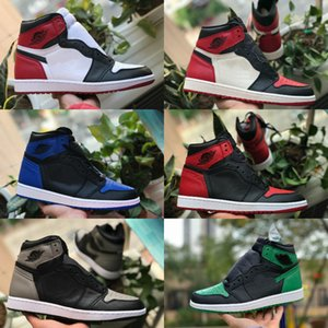 New 1s 1 Jumpman High Court Purple White Pine Green Black Mens Basketball Shoes Zoom White NC Obsidian UNC Patent gold stylist Sneakers