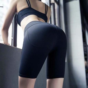 INS European and American Style High Waist Peach Hip Sports Tight Elastic Riding Running Fitness Pants 2019 Spring and Summer New Style Sale