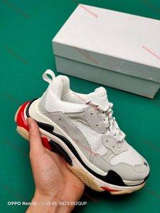 xshfbcl New Fashion Clear Sole Triple S Platform Casual Dad Shoe Triple-S 17FW Vintage Black Green Air Kanye lusso Womens progettista Sneake