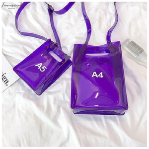 Transparent Jelly Letter Bag Summer Beach Pvc Flap Bags Brand Women Pvc Tote Messenger Bags Ladies Girls Vacation Shoulder Bags