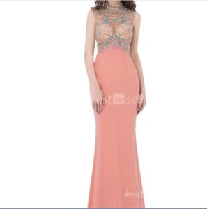 LX291 Mermaid High-neck with Zipper Coral In Stock Homecoming Dresses Occasion Dress Cheap Party Prom Gowns