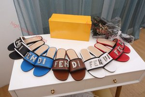 New fashion ladies marque sandals size 35-42 marque shoes Luxe sliding summer fashion wide flat sandals and slippers xshfbcl