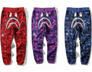 2019 New Teenager Hip Hop Personality Shark Mouth Camouflage Printing Casual Pants Male Hip Hop Foot Sport Sweatpants Cargo Pants for Track