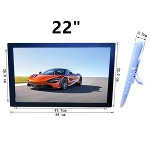 22 / 21,5 İnç IPS Arka Işık HDMI 1920 * 1080 Full Fonksiyon Dijital Fotoğraf Çerçevesi Elektronik Albüm digitale Resim Music Video