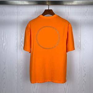 Sokak Modası Erkek T Shirt Basit Aydınlık Rozetleri Polos Kısa Kollu Tenis T Shirt Erkekler ve Kadınlar Çiftler Şık Yüksek Kaliteli Jersey Tee