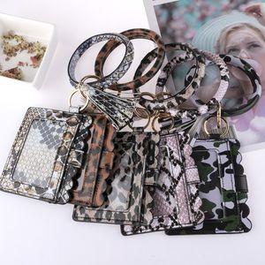 New Designerbag Portemonnaie Personalized Frauen-Leopard-Snakeskin Checks PU-Armband Keychain Kreditkarte-Mappen-Schlüsselanhänger mit Quaste Pandent