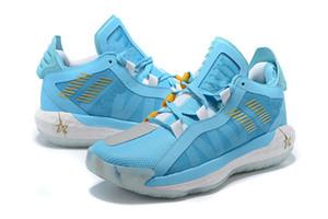 Neue Damian Lillard Vi Sky Blue Männer Basketballschuhe mit Kasten Hohe Qualität Schuhe Dame 6 Ruthless Sports Sneakers Trainer Größe 40-46