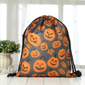 Trucco Halloween all'ingrosso zaino del partito dello shopping natalizio Borsa coulisse Mazzo Pocket Festival promozionale da toilette bagagli Bag DH0094