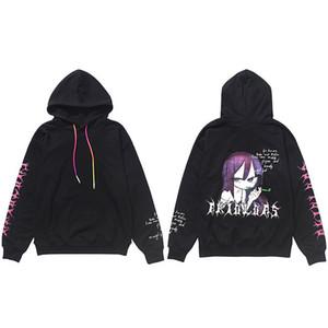 2020 Hip Hop Sweat Hoodies Streetwear japonaise fille hommes Harajuku Cartoon Sweat à capuche en coton automne