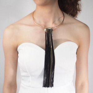 Женская Сплав Пара Choker ожерелья Trend Длинные цепи металла Подвеска 2020 Jewelry bGR7 #