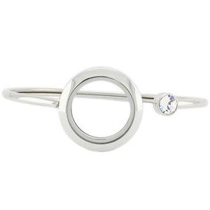 New arrival! High Quality stainless steel floating locket bracelet 25mm glass locket bracelets bangles for Women