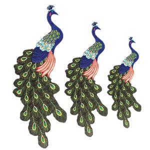 10 pieces Cross-border gold thread embroidery peacock cloth patches parent-child suit cloth applique size patch stickers decorative clothes