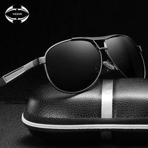Hommes pilote haute VCKA VCKA Polarisée Vintage Vintage Verres de conduite Alliage Sun Cadre 2020 UV400 Lunettes de soleil Women Eyewear Xeato