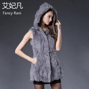 Genuine Fur Vest Hooded 2020 Winter Spring New Fur Silm Waistcoats Ladies Natural Real Coat Long Jacket Solid