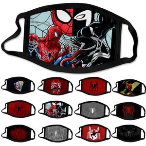 DHL design visage masque masques mode adulte Spider-Man spiderman super-héros lavable poussière réutilisable coton coupe-vent masque facial