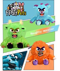 16 types Feisty Pets One second Change face Animals 22CM Plush toys cartoon TY monkey bear unicorn Stuffed Animals baby Christmas gift