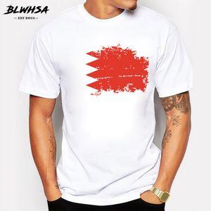 Бахрейн Флаг майка Мужчины шею с коротким рукавом Хлопок Ностальгия футболки для мужчин Brand Design Bahrain футболку