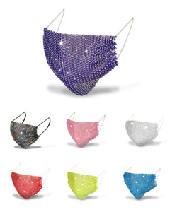 2020 Sequins Yüz Bar Parti Maskeleri Karışık Renkler için Anti Toz Yeniden kullanılabilir Yıkanmış Tasarımcı Maskeler Moda Elmas Mesh Maskeler Maske