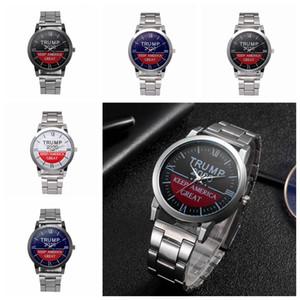 Trump Wrist Watches Trump 2020 Strap Watch Retro Letter Printed Unisex Quartz Watches Party Favor Wristwatches 5 Styles CCA12314 30pcs