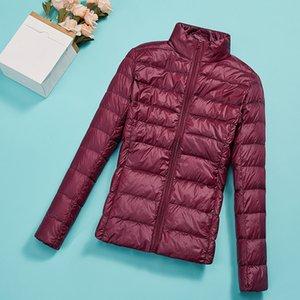 Winter Jacket Women Thin Duck Down Jacket Parka Female 2020 Autumn Ultra Light Down Coat Black Short Tops Plus Size XL 2XL 3XL