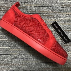 새로운 디자이너 신발 스타 크리스탈 마틴 빈티지 주니어 스파이크 Orlato 남성 플랫 바닥 GZ 카니 주자 트레이너 플랫폼 트리플 CHAUSSURES 빨간색