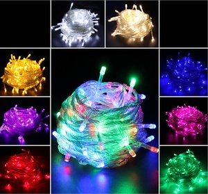 Opening discount 10M Waterproof 110V 220V led string 100 LED RGB white holiday String lights for Christmas Festival Party Decorations