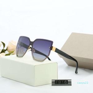 Al por mayor de diseño de lujo para hombre de gafas de sol del verano de 7916 UV400 5 colores disponibles de alta calidad con la caja