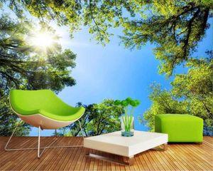 Fond d'écran 3D pour Chambre Fantasy Forest Sky HD Natural Paysage HD Fond d'écran décoratif Belle