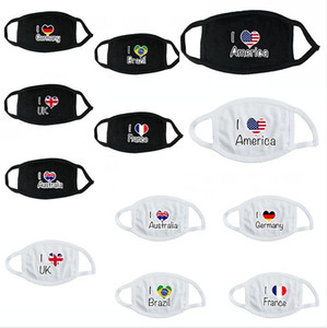 Universal National Pattern Print Face Masks Men Women Dustproof Outdoor Cotton Mouth Cover Breathable Washable Reusable Mask DDA167