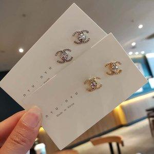 Le donne Lettera di diamanti squisiti Designer orecchini del Rhinestone di Bling di lusso orecchini di personalità della moda gioielli migliore qualità